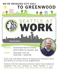 Seattle at work in Greenwood